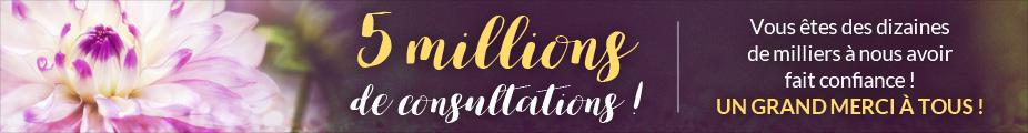 5 millions de consultations : un grand merci !