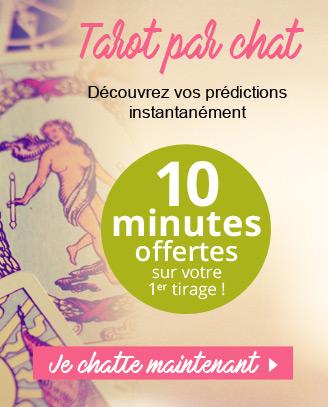 Tarot par chat: 10 minutes offertes pour votre 1ère consultation