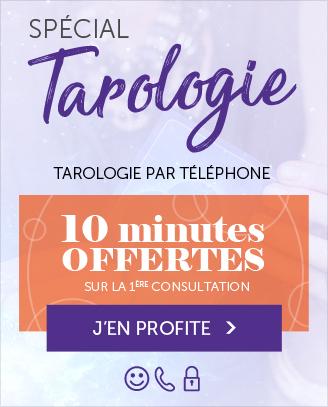 Tarologie par téléphone: 10 minutes offertes pour votre 1ère consultation