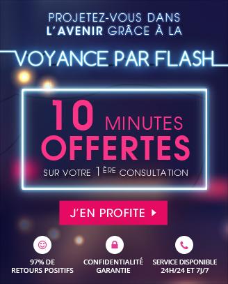 Voyance par flash: 10 minutes offertes pour votre 1ère consultation