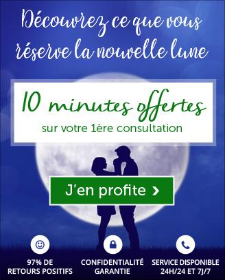 Nouvelle lune: profitez de 10 minutes offertes pour votre 1ère consultation