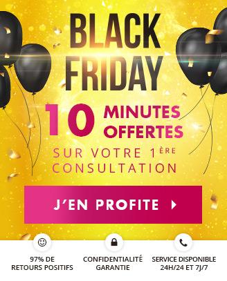 Black Friday: profitez de 10 minutes offertes pour votre 1ère consultation