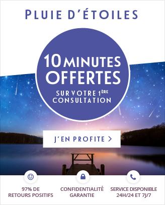 Pour la pluie d'étoiles: profitez de 10 minutes offertes pour votre 1ère consultation