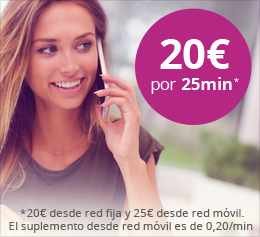 20€ por 25minutos